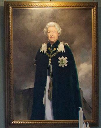 Queen Elizabeth New Portrait at Scottish home