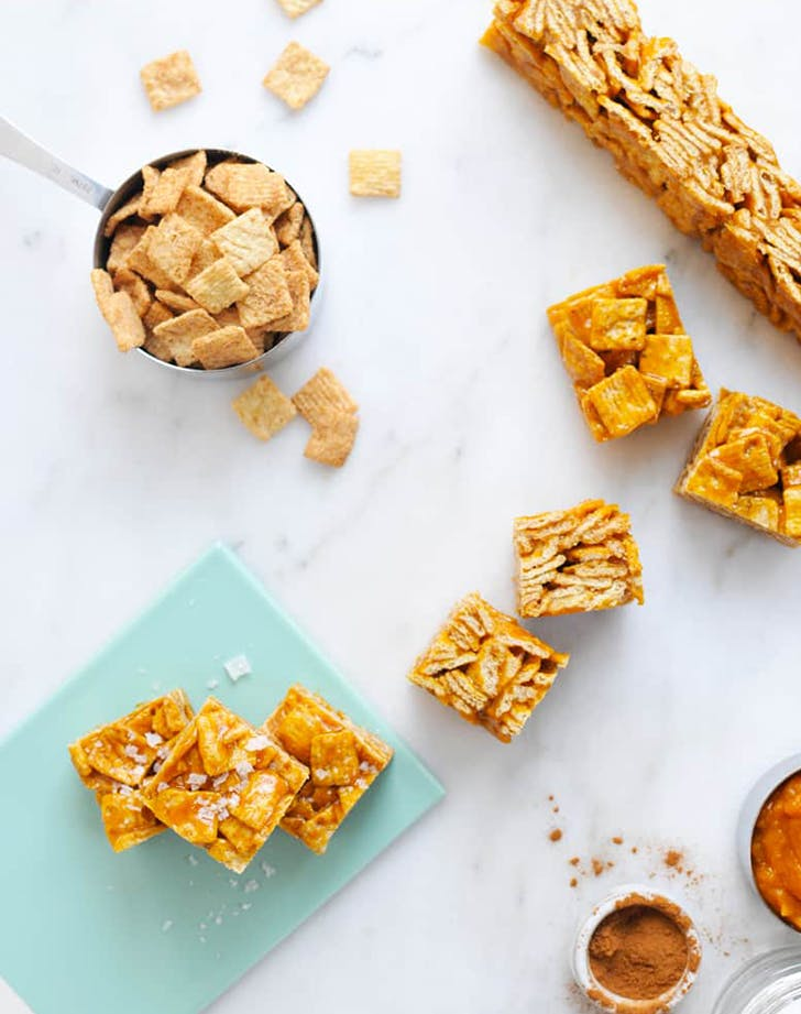 Salted Pumpkin Caramel Cinnamon Toast Crunchies recipe