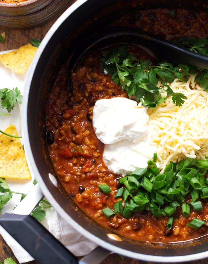 Spicy Ancho Turkey Chili recipe