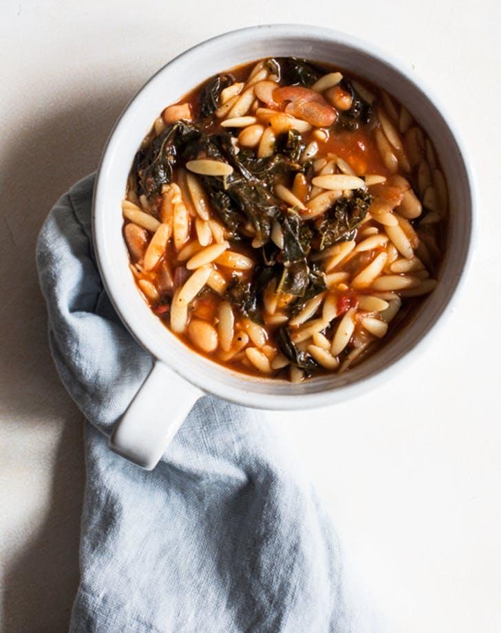 Tomato Orzo Soup with Kale recipe