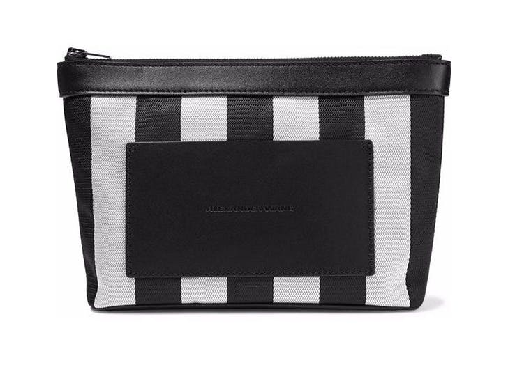 alexander wang black and white cosmetics bag