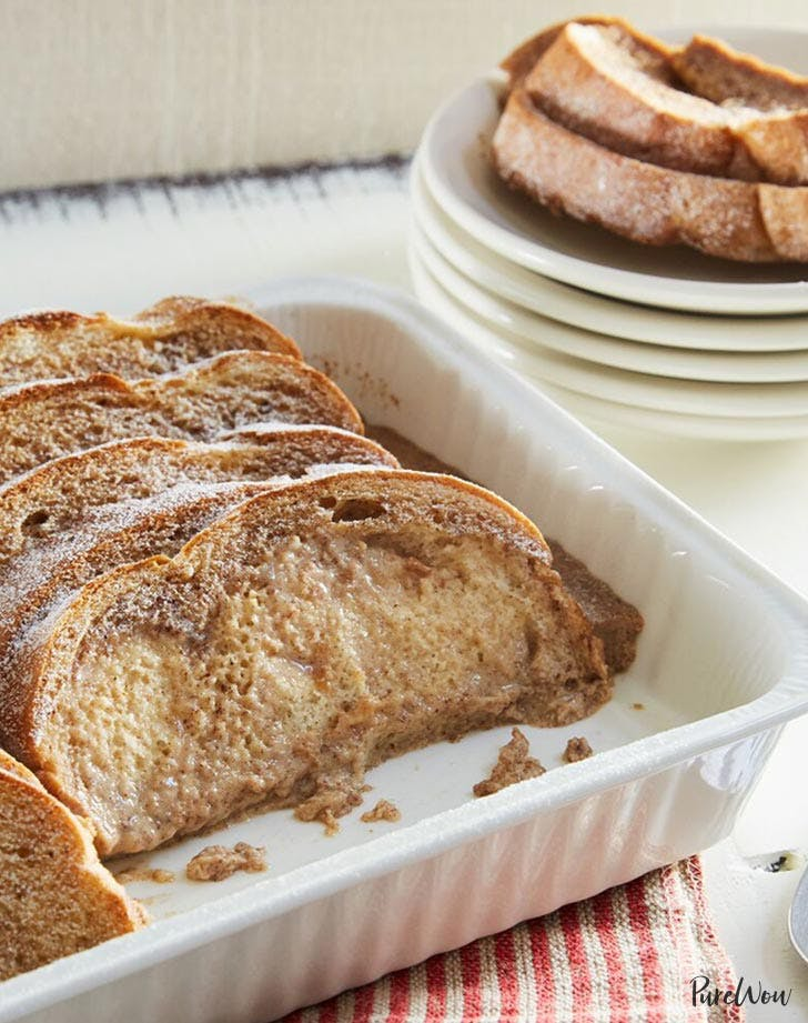 baked eggnog french toast holiday breakfast