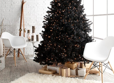 Black Christmas Trees Are Trending , PureWow