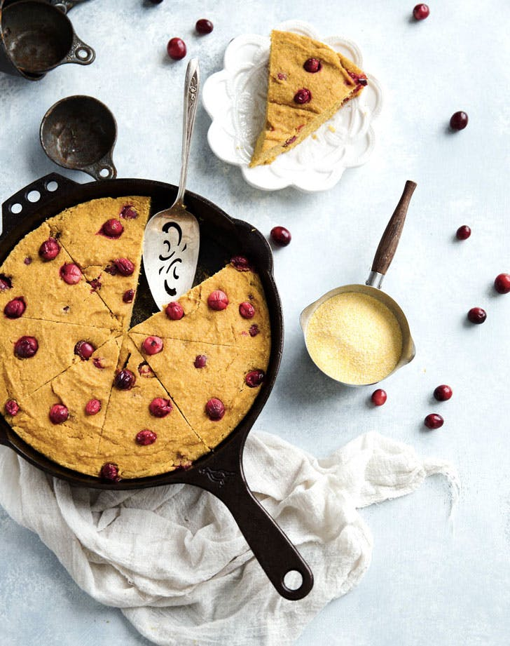 brown butter cranberry pumpkin skillet corn bread recipe