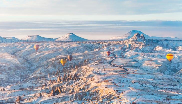 cappadocia turkey in winter