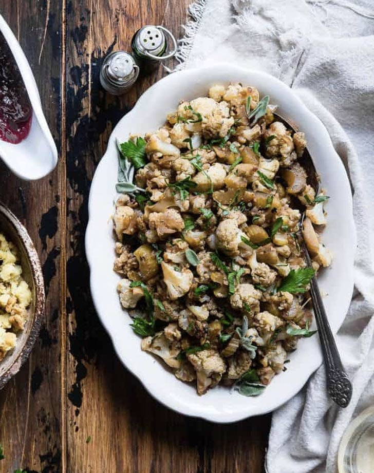 cauliflower vegan stuffing