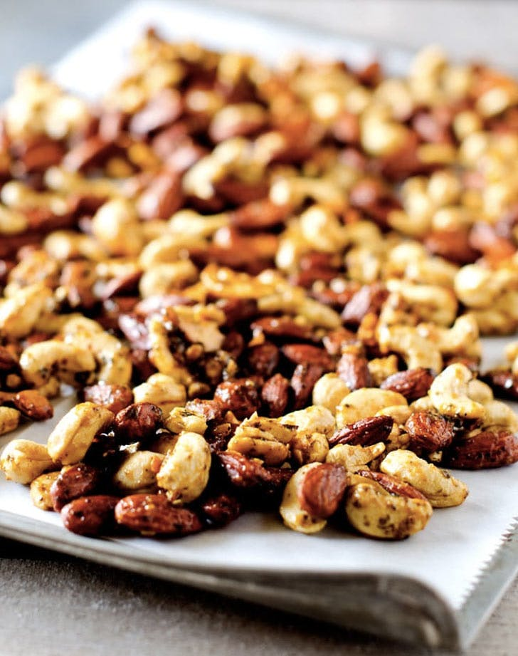 corck pot holiday recipes curried cashews almonds