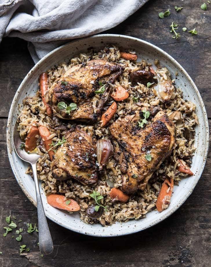 crock pot holiday recipes chicken rice pilaf