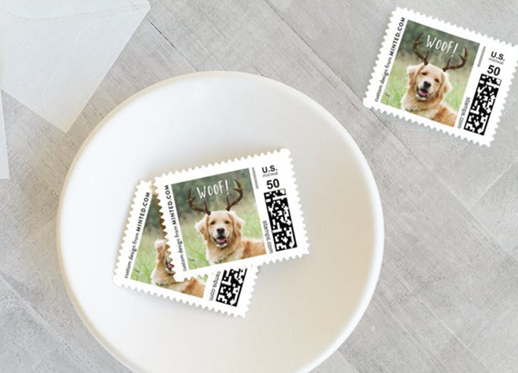 custom stamps from minted
