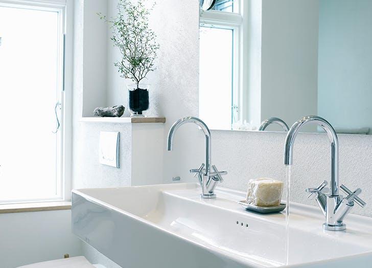 double bathroom sink