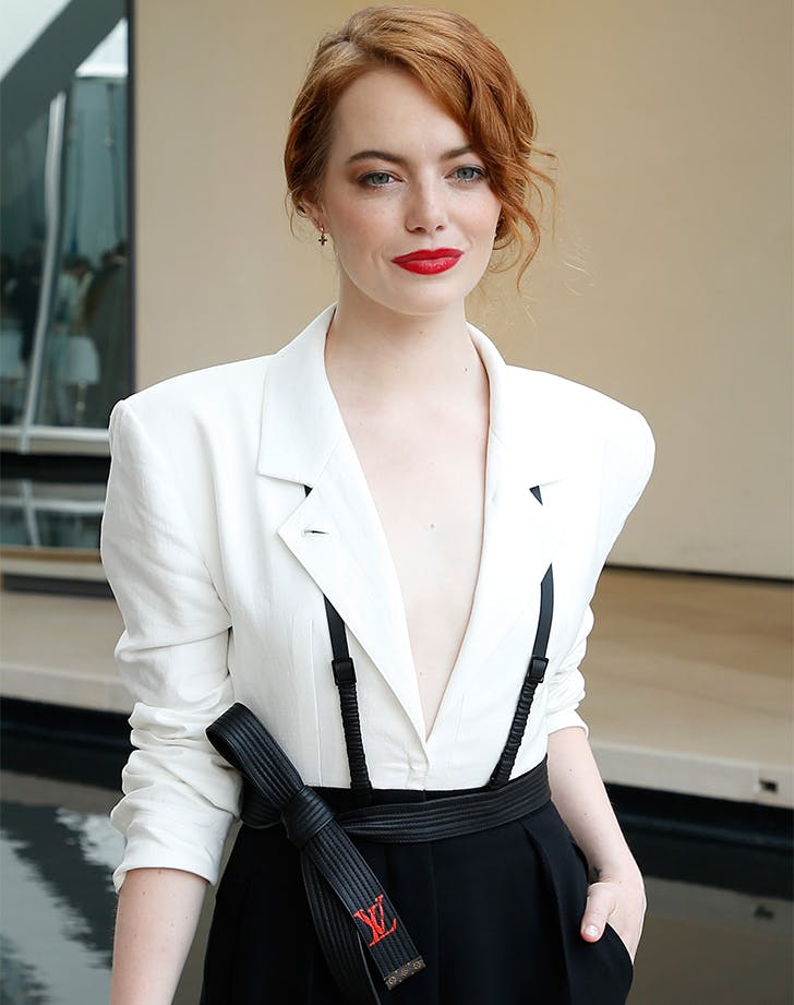 emma stone red lip