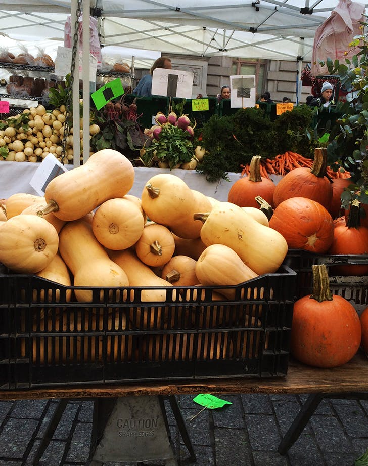 fall farmers market butternut squash