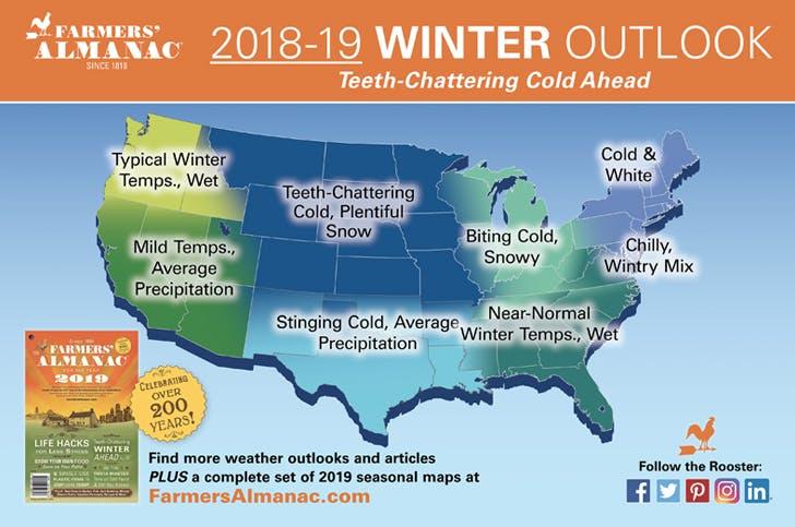 farmers almanac winter forecast