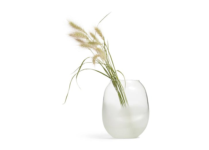 frosted glass vase