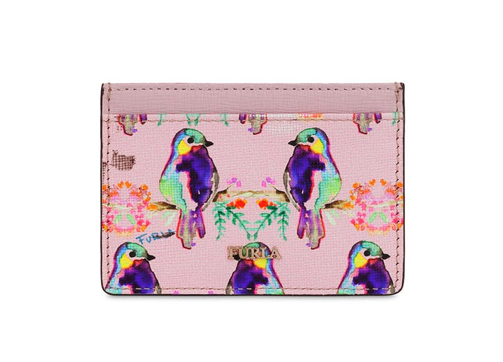 furla printed card case