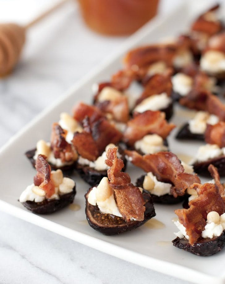 goat cheese stuffed figs with pancetta christmas appetizers