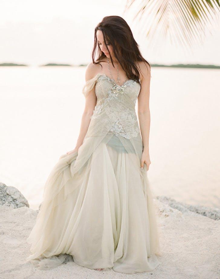 8b06215e9 ASYMMETRIC PERFECTION. This heavenly pistachio gown ...