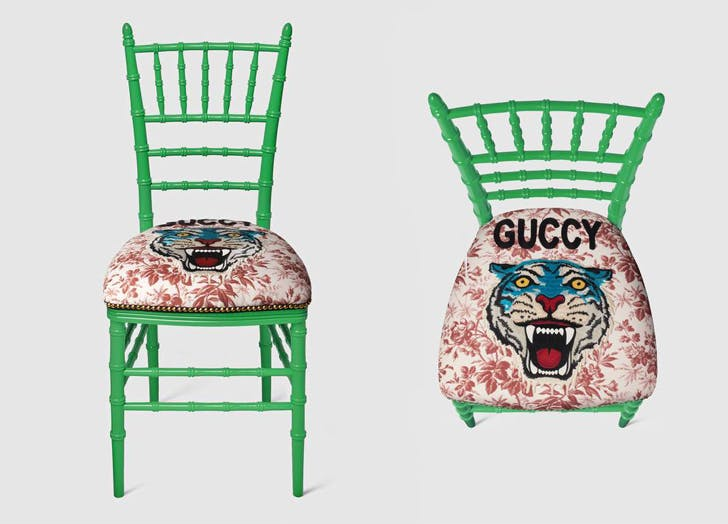 gucci embroidered chair