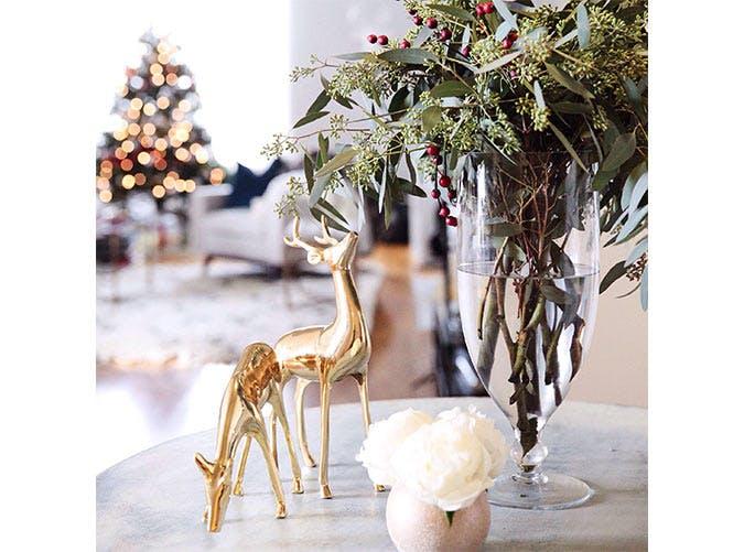 holiday decoration holly vase