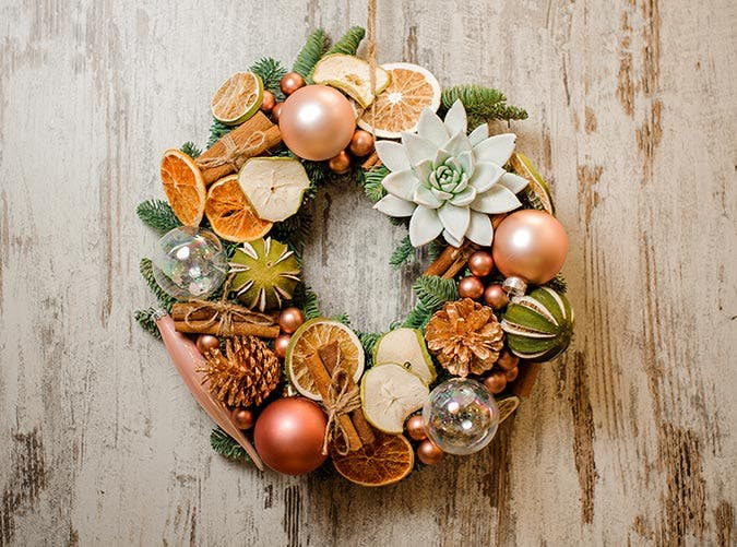 holiday decorations cinnamon stick wreath