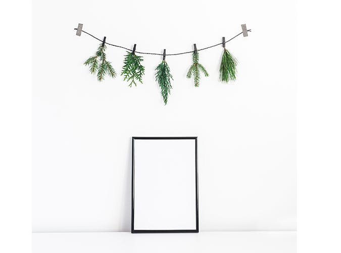holiday decorations fresh garland