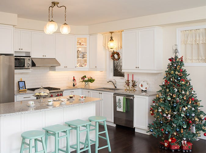 holiday decorations kitchen tree