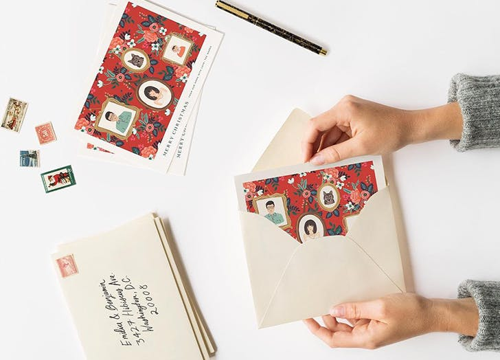 holiday cards from rifle paper co