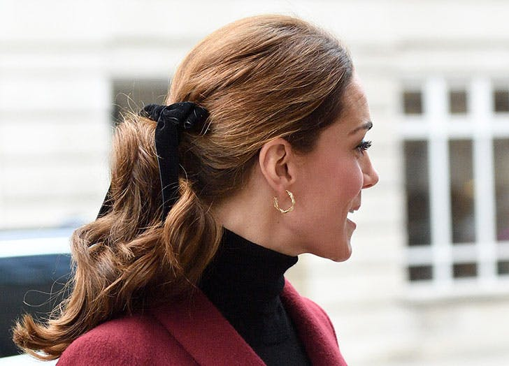 kate middleton velvet bow