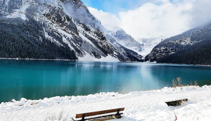 lake louise canada in winter