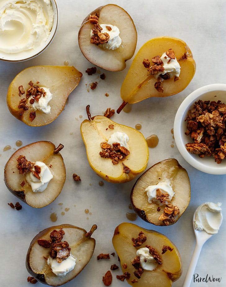 maple baked pears recipe