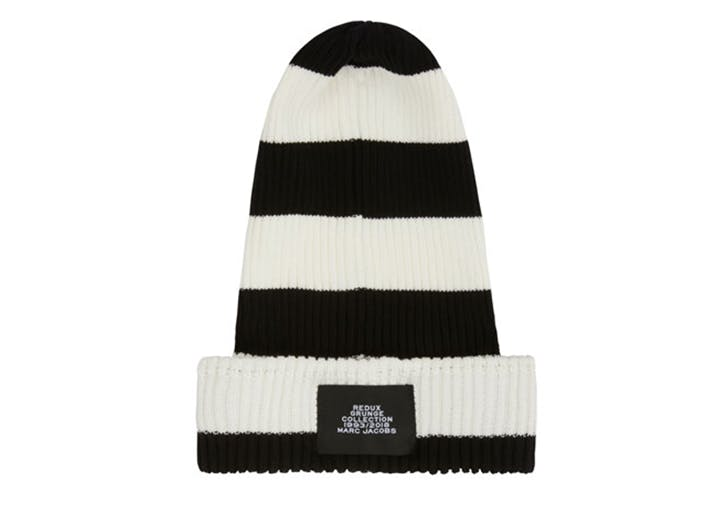 marc jacobs black and white stripe hat