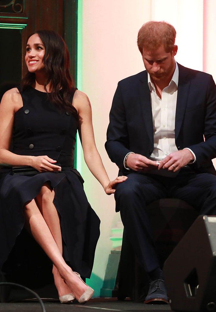 meghan markle prince harry hand on thigh