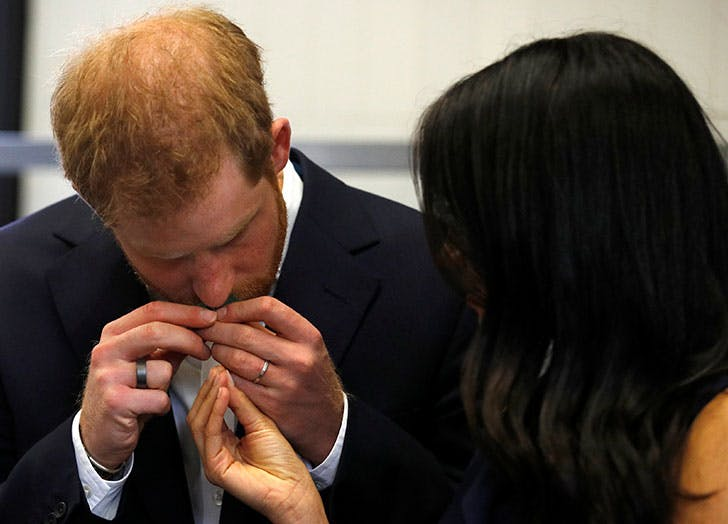 meghan markle prince harry sniffing herbs