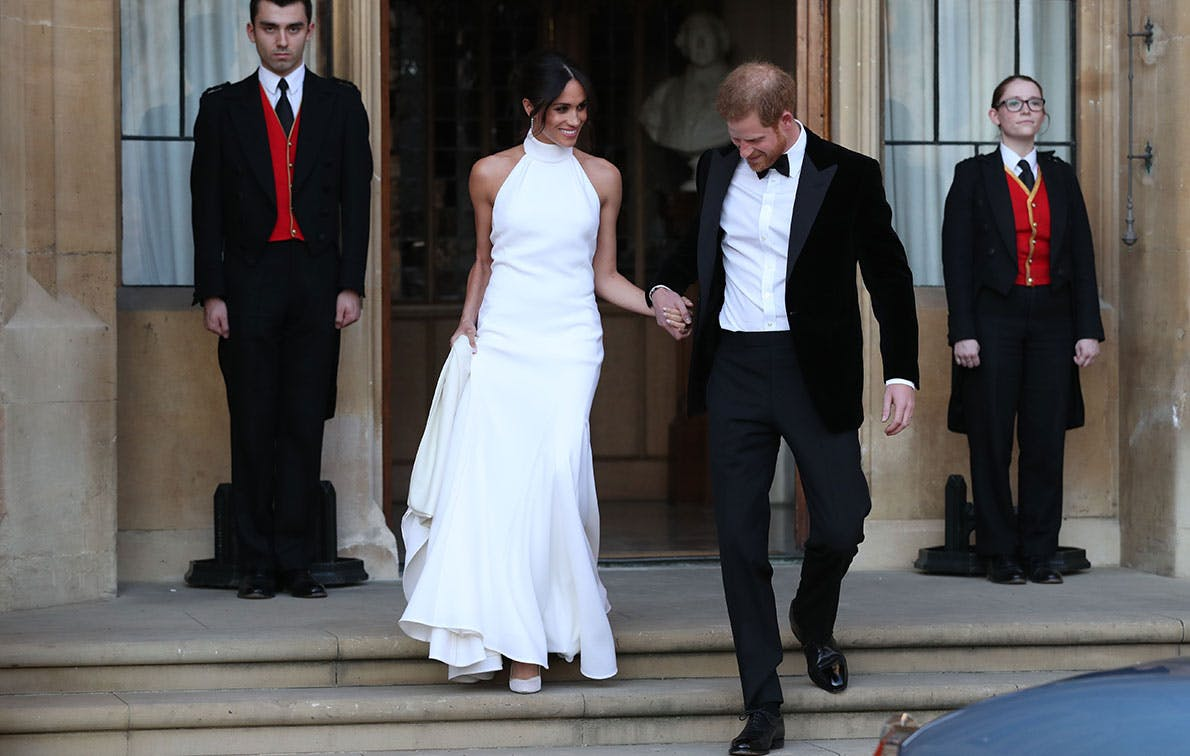 meghan markle reception dress royal wedding