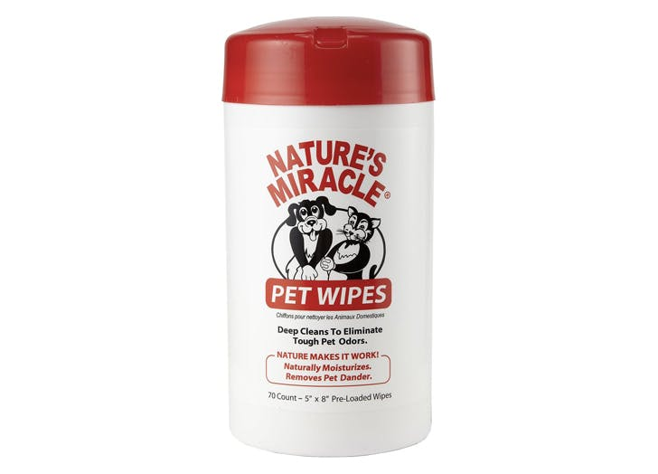 natures miracle pet wipes