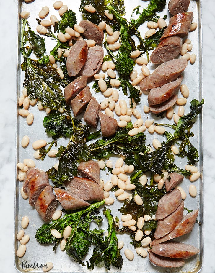 One-Pan Sausage with Broccoli Rabe and White Beans