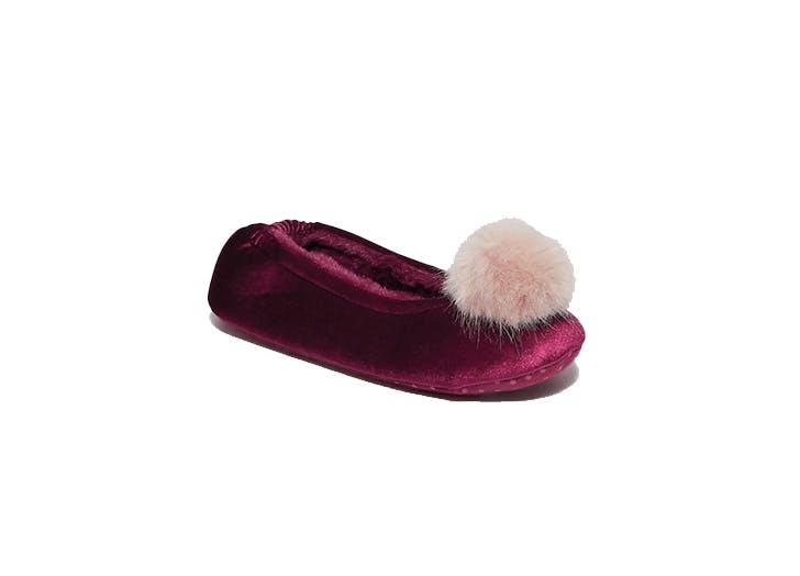 pom pom slipper