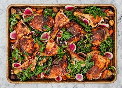 pomegranate sumac chicken roasted carrots recipe 290