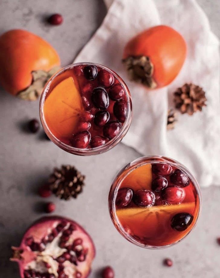 pomegranate and persimmon winter sangria recipe