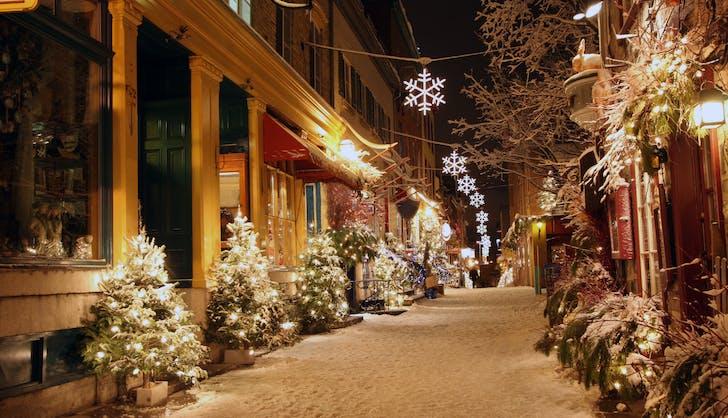 quebec city canada in winter
