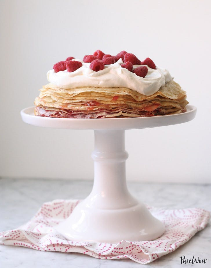 rasberry crepe cake holiday recipes