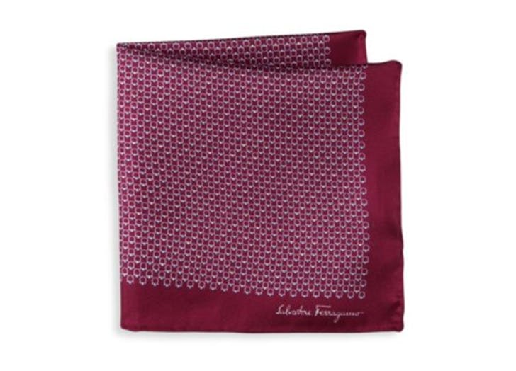 salvatore farragamo silk pocket square