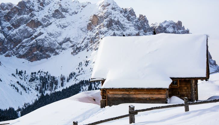 san cassiano italy in winter