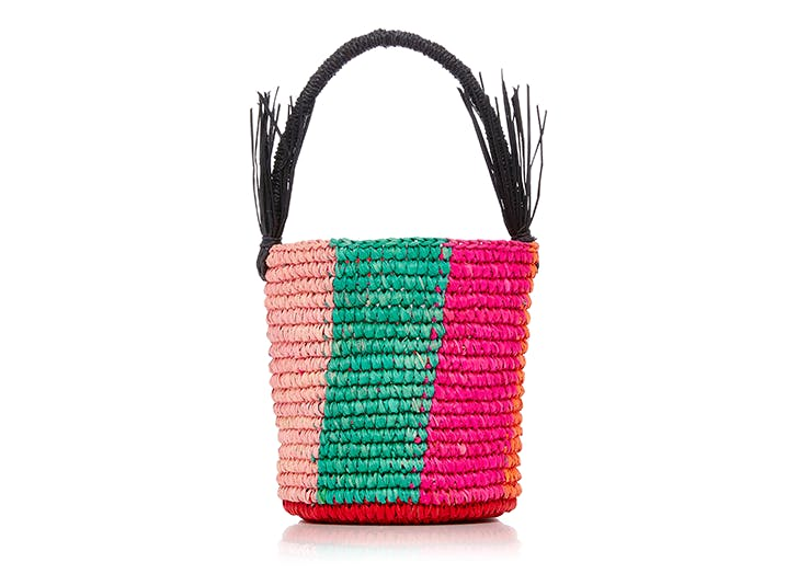 sensai studio colorful straw bag