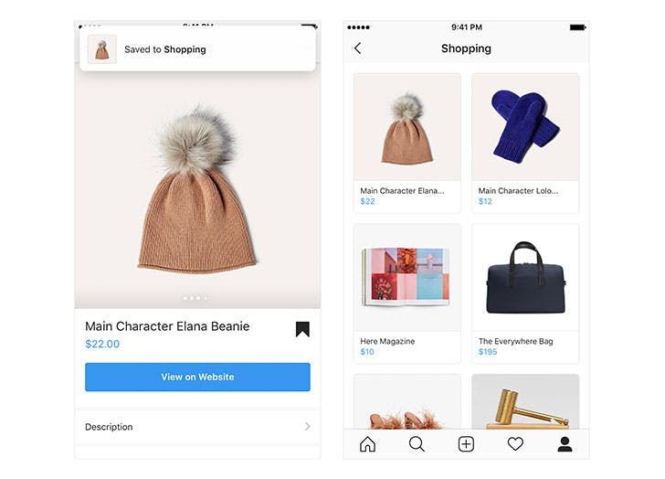 shopping collection instagram