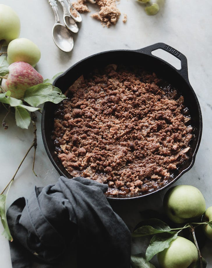 skillet caramel apple crisp recipe