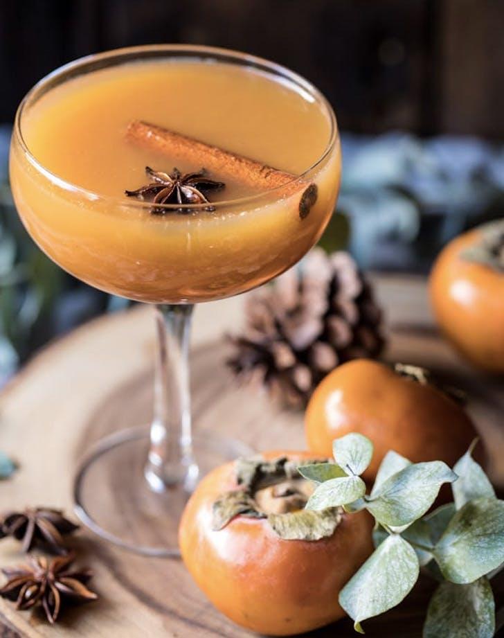 spiced persimmon bourbon old fashioned recipe