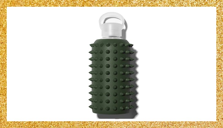 spiked glass water bottle