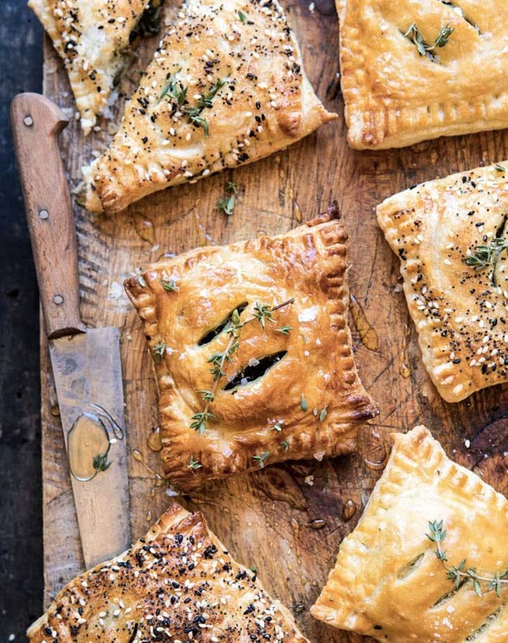 spinach cheddar pastry christmas appetizers