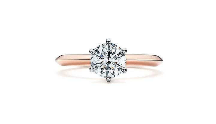 the tiffany setting 18k rose gold Engagement ring